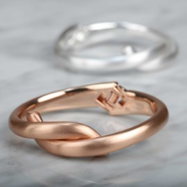 Smooth Silver Or Rose Gold Knot Bangle