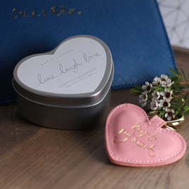 'Live, Laugh, Love' Heart Tin Candle
