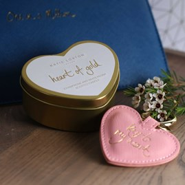 'Heart Of Gold' Heart Tin Candle
