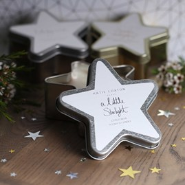 'A Little Starlight' Silver Star Tin Candle