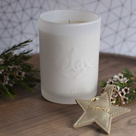 'Relax' Soft Cotton And Jasmine Scented Candle