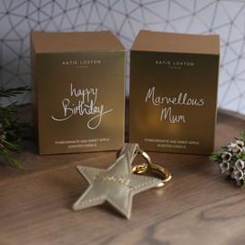 'Marvellous Mum' Written Word Candle