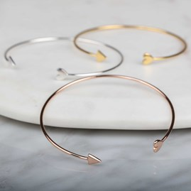 Cupid Bangle In Rose Gold
