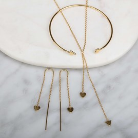 Cupid Drop Necklace In Gold