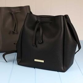 Classic Black Designer Bucket Bag