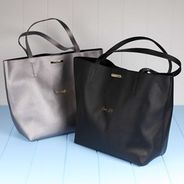 'Love Life' Black Parker Shopper Bag