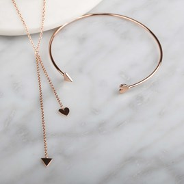 Cupid Drop Necklace In Rose Gold