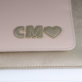 Personalised 'Shine Bright' Pale Grey Perfect Pouch