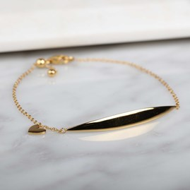 Stunning Crescent And Charm Bracelet Gold