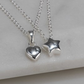 Children's Solid Silver Heart Pendant