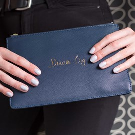 Katie Loxton Personalised 'Dream Big' Midnight Blue Perfect Pouch