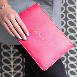 Katie Loxton Personalised 'Marvellous Mum' Fuchsia Perfect Pouch