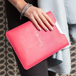 Personalised 'Hello Lovely' Coral Tablet Cover