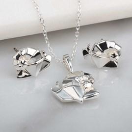 Stunning Silver Origami Snail Earrings