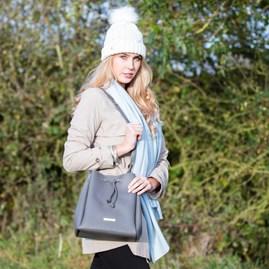 Cool Charcoal Designer Bucket Bag