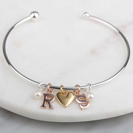 Personalised Story Bangle Silver