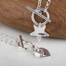 Solid Silver Star Charm Bracelet