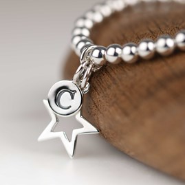 Personalised Children's Silver Star Bracelet