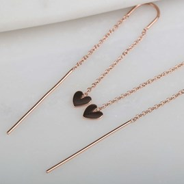 Cupid Drop Earrings In Solid Silver, Gold Or Rose Gold