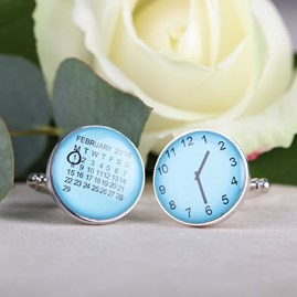 Personalised Moment In Time Cufflinks