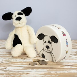 Jellycat Bashful Puppy Money Box