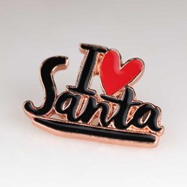 'I Love Santa' Christmas Enamel Pin And Card