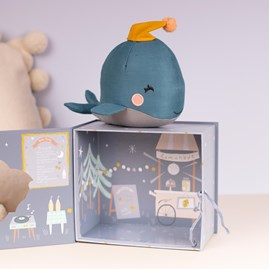 Soft Whale Cuddly Toy In A Gift Box