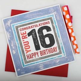 'Happy 16th' Birthday Card