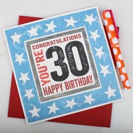 'Happy 30th' Birthday Card