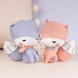 Pink Fox Cuddly Toy In A Gift Box