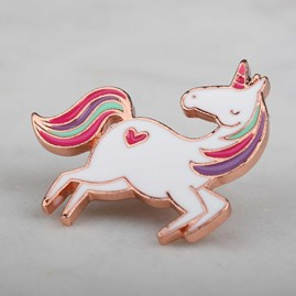 'It's A Unicorn Kind Of Day' Enamel Pin And Card