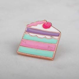 'Cake' Enamel Pin And Card