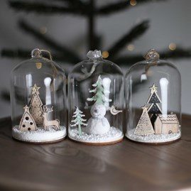Christmas Deer And Trees Snow Globe