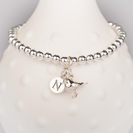 Personalised Baby Robin Bead Bracelet