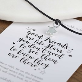 'Good Friends Are Like Stars…' Star Wish Bracelet