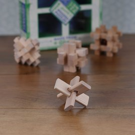 Brain Busting Set Of Four Classic Wooden Puzzles
