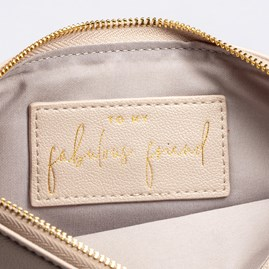 Katie Loxton Personalised 'Love Life Laugh Often' Secret Message Pouch