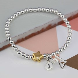 Personalised Jess Gold Star Bracelet