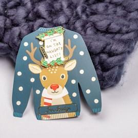 'I'm On The Naughty List' Christmas Pin Badge