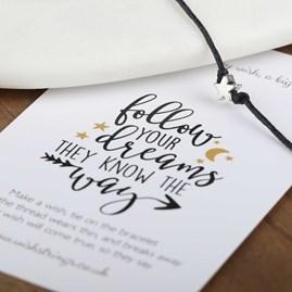 'Follow Your Dreams They Know The Way' Wish Bracelet