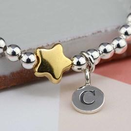 Personalised Tess Gold Star Bracelet