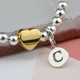 Personalised Tilly Gold Heart Bracelet