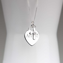 Personalised Child's Christening Cross Necklace