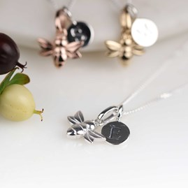 Personalised Baby Bee Necklace
