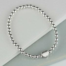 Milly Silver Heart Charm Bracelet