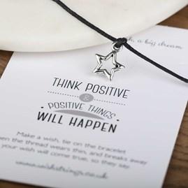 'Think Positive' Star Wish Bracelet