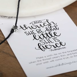 'She Is Fierce' Star Wish Bracelet