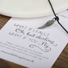 'What If I Fall…What If You Fly' Feather Wish Bracelet