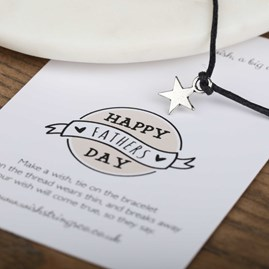 'Happy Father's Day' Star Wish Bracelet