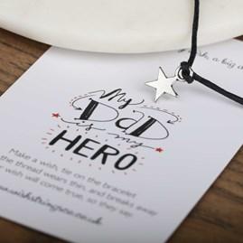 'My Dad Is My Hero' Star Wish Bracelet